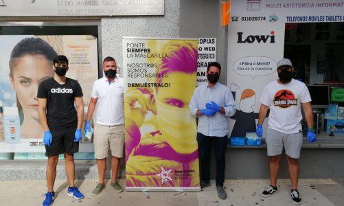 Juventudes Socialistas de Los Barrios apoya la campaña provincial por el uso de mascarillas en los jóvenes